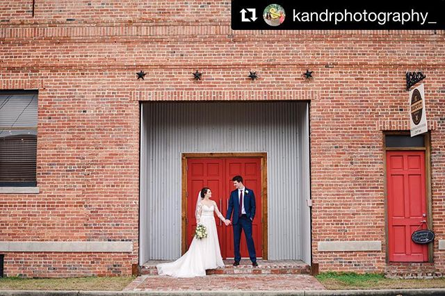 "#Repost @kandrphotography_ with @get_repost ・・・ One of our favorite ""new"" venues to date! The Biscuit Company down in Thomasville, Ga!  Brick ✔️ Tin ✔️ Red Door ✔️ Amazing Bride & Groom ✔️✔️ • • • • #kandrphotography #kandrweddings #bestfriendteam #bride #groom #groomfashion #brideoftheday #thomasville #thomasvillega #biscuitcompany #weddingvenue #swgawedding #swgaweddingphotographer #thatsdarling"