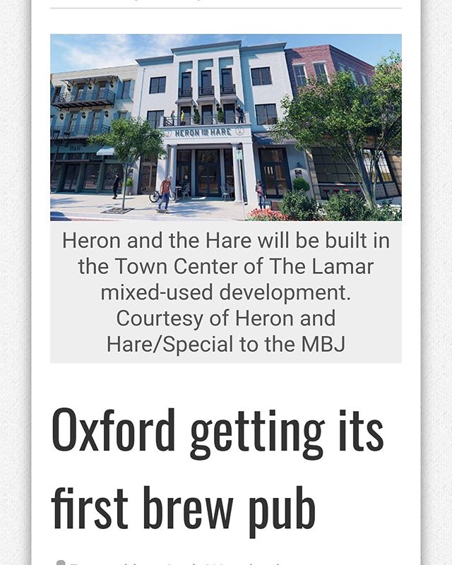 https://msbusiness.com/2019/04/oxford-getting-its-first-brew-pub/  Please contact us for more info about how your business can join Oxford's 1st brewpub at The Lamar - The Oxford Way of Life. #thelamarofoxford #theoxfordwayoflife #realestate #commercialrealestate
