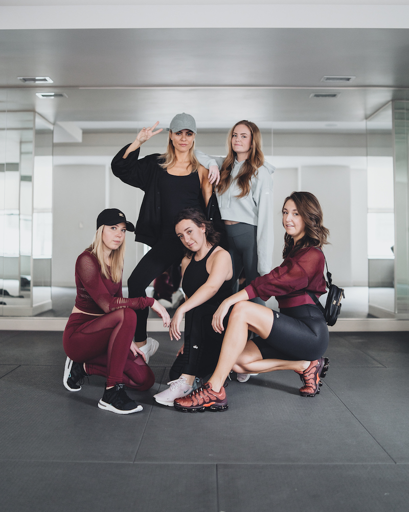 Monika Dixon of Monika Dixon Public Relations and her team are at Yoga Squad Gold Coast dressed in athletic wear from brands such as Alo Yoga, Nike, TLA by Morgan Stewart and Adidas. Monika Dixon is a fashion influencer and is always on the look out for new styles, designs and brands.