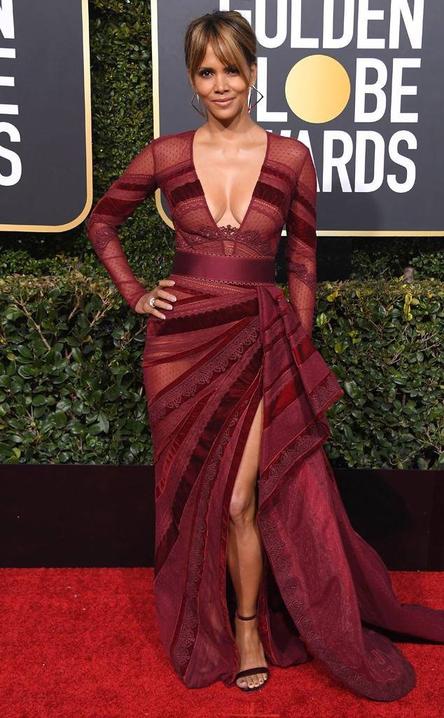 Halle Berry in Zuhair Murad and Roberto Coin jewelry