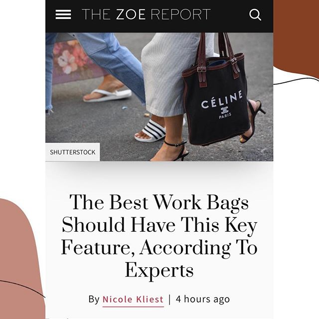 A good accessory can make all the difference, even when it comes to work 👜 Thankfully, @nickliest is sharing her favorite work bags on @thezoereport including this beaut from @creaghbk (swipe right to see then head to the link in bio to check out the full article and shop!)
