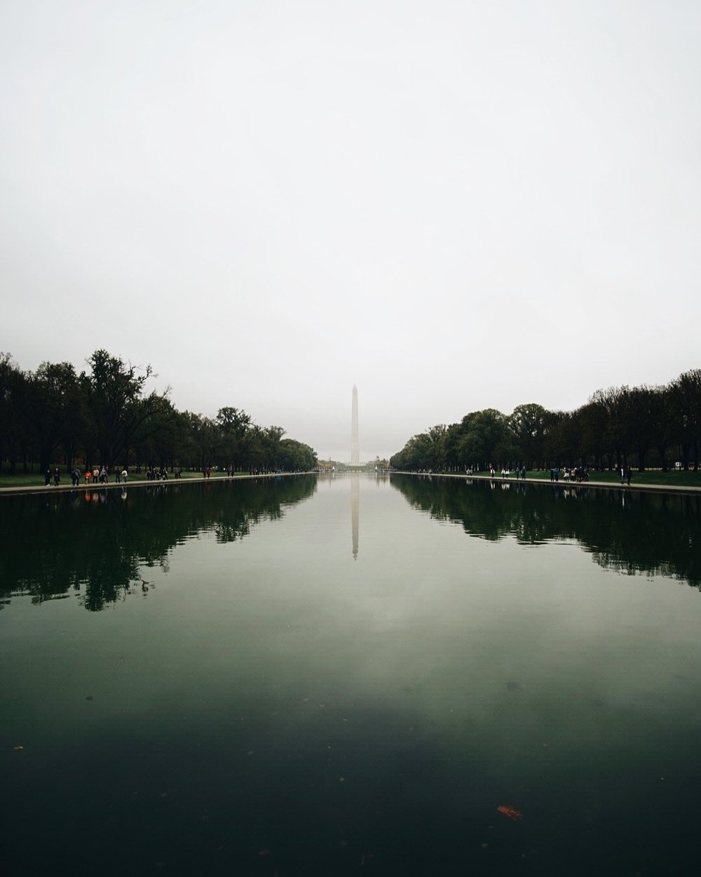 Washington DC last Autumn at the Reflection Pool by the Lincoln Monument