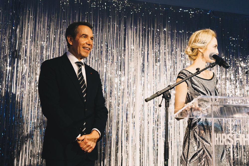 Spring Gala honoree Jeff Koons & Hirshhorn Director Melissa Chiu