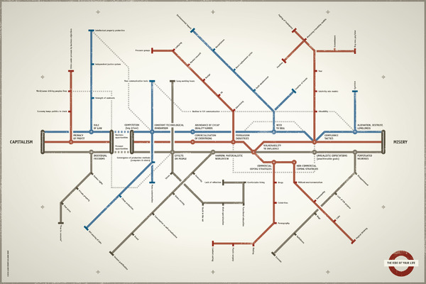 Subway Map Design.The Ride Of Your Life Cool Infographics