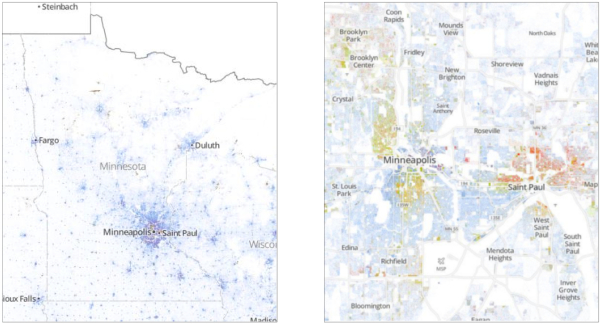 The Racial Dot Map Minneapolis
