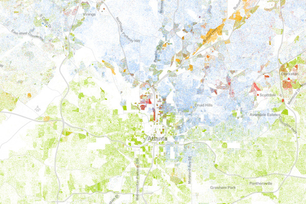 The Racial Dot Map Atlanta