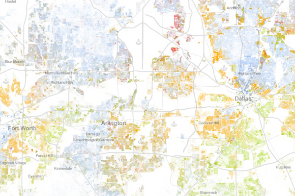 The Racial Dot Map Dallas Fort Worth