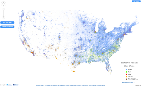 The Racial Dot Map USA