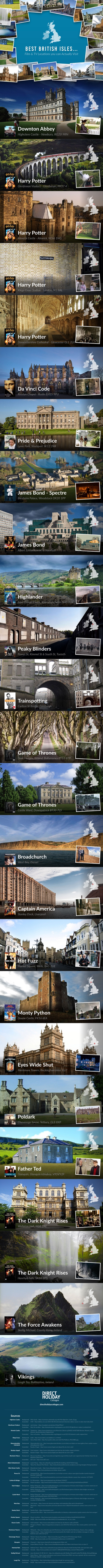 Best British Isles Film & TV Locations you can Actually Visit infographic