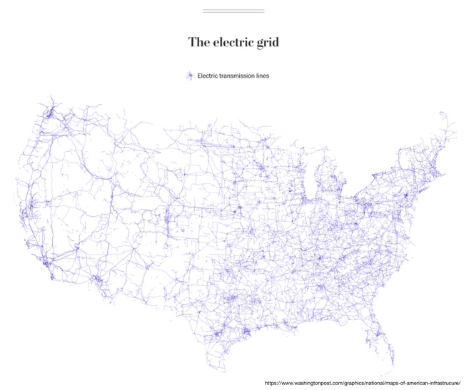 Six Maps that Show America's Infrastructure: The electric grid