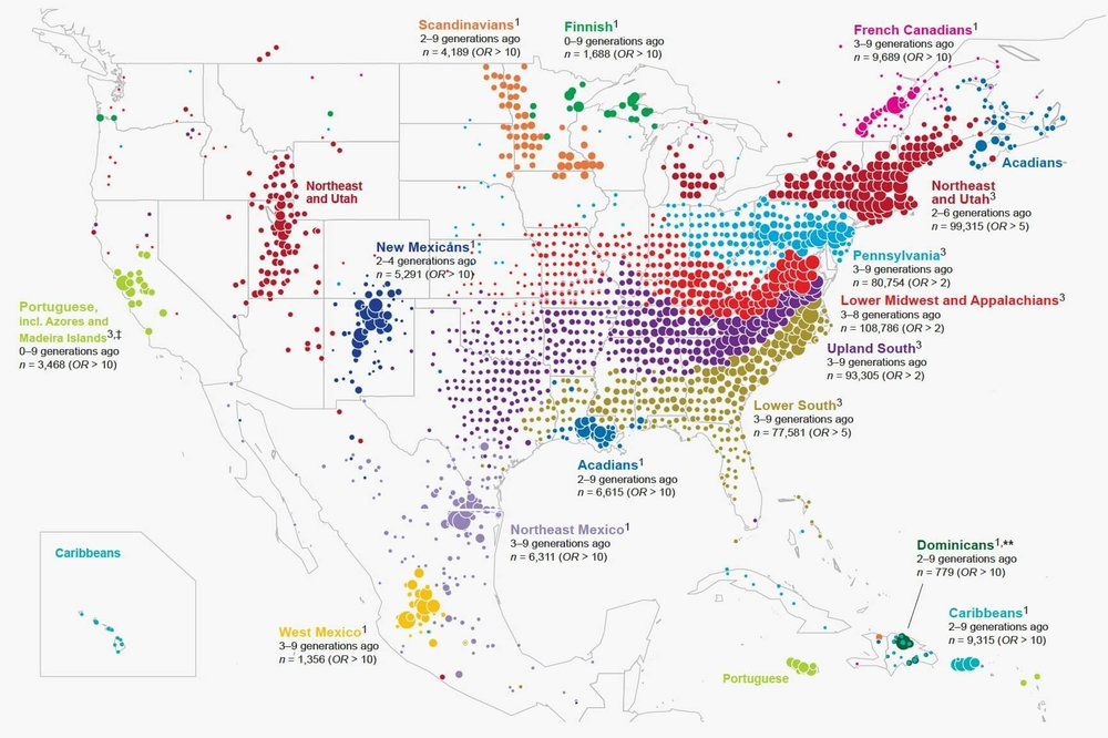What 770,000 Tubes of Saliva Reveal About America map