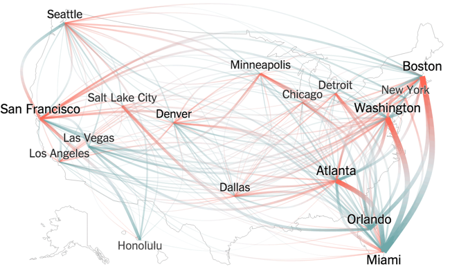 Thanksgiving Flight Patterns infographic