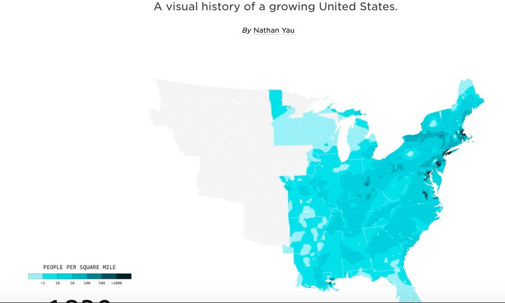 Visual History of US Population — Cool Infographics