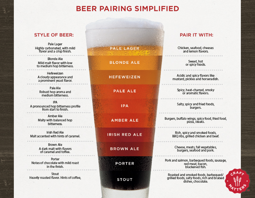 Beer Pairings Simplified infographic