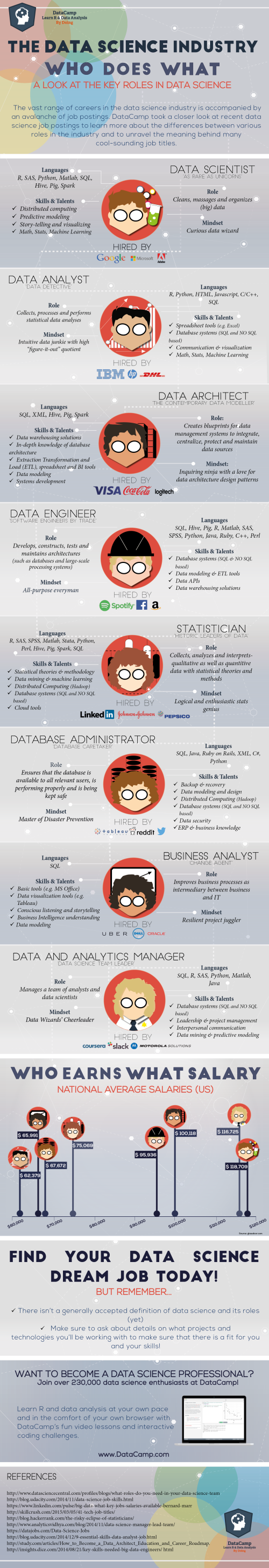 The Data Science Industry: Who Does What? infographic