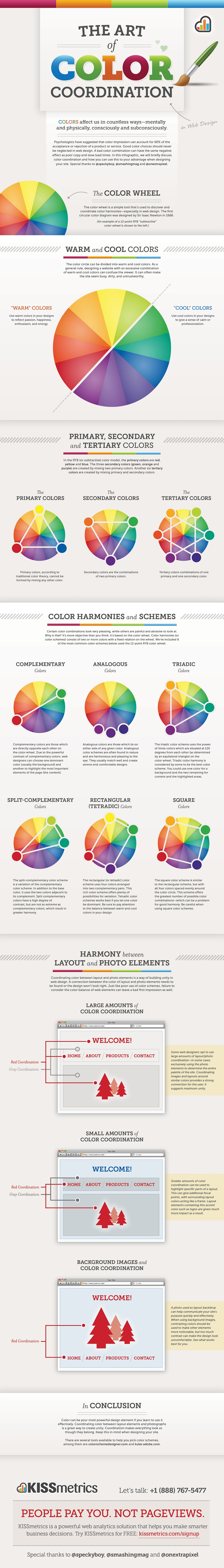 The Art of Color Coordination infographic