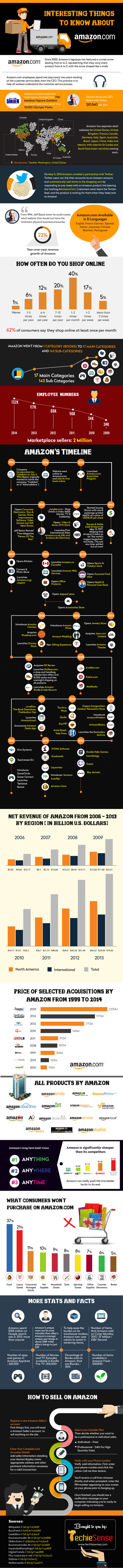 Interesting Things to Know About Amazon infographic