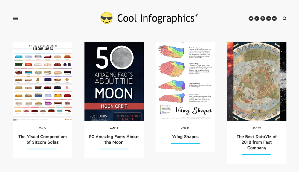 Cool Infographics grid layout design 3.0 launched in 2019