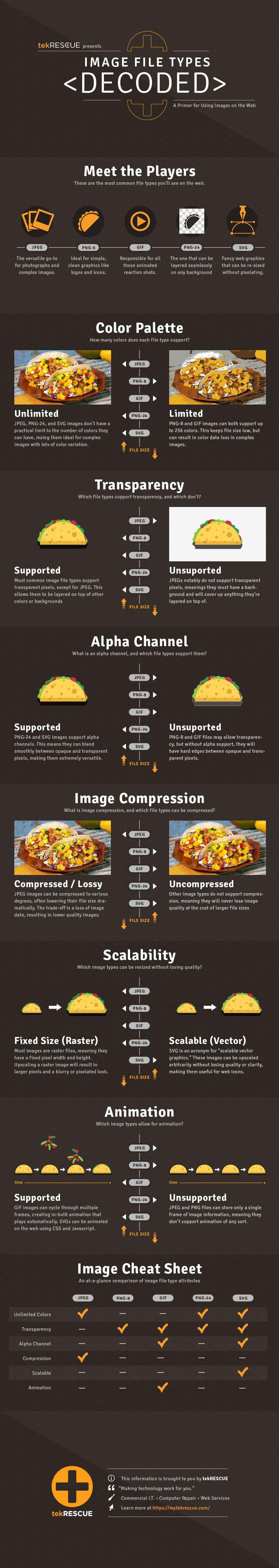 Image File Types Decoded infographic