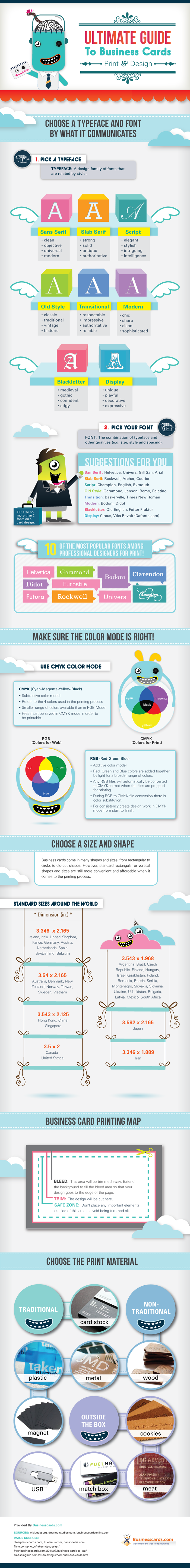Ultimate Guide to Business Cards infographic