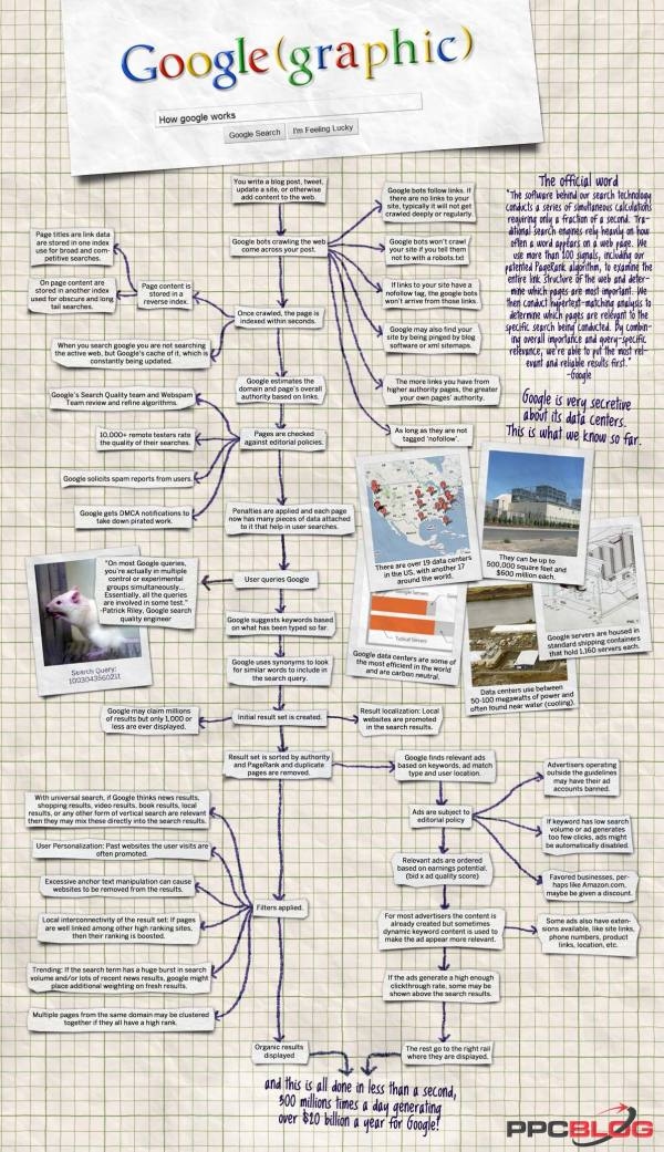 Google(graphic) - How Google Works — Cool Infographics