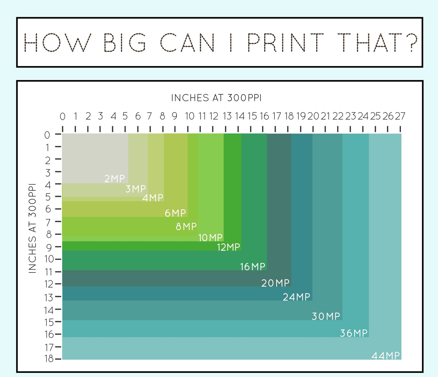 A Handy Guide to Image Print Resolutions — Cool Infographics