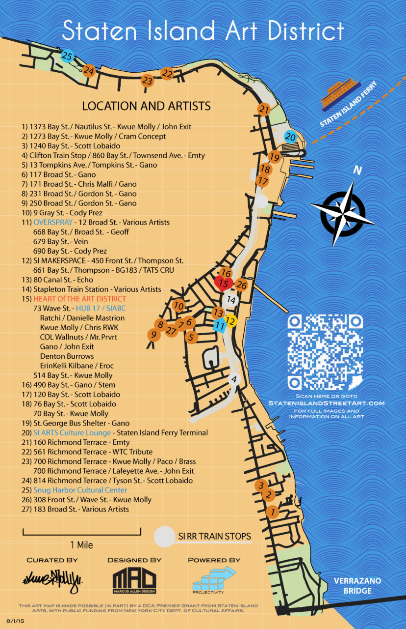 Staten Island Street Art Map
