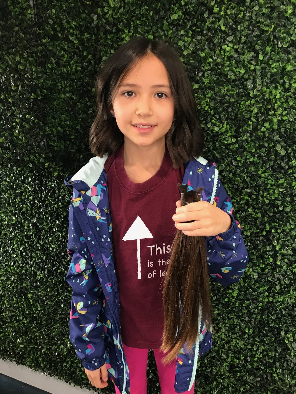 She donated 4 ponytails that were 12.5 inches long!