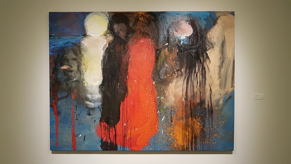 "Jim Dine (b.1935),  Oslo, Midsummer with E., 2016 , 59 1/4"" x 79 1/8"", Richard Gray Gallery booth at Art Basel (in) Miami Beach. Photo courtesy of the writer."