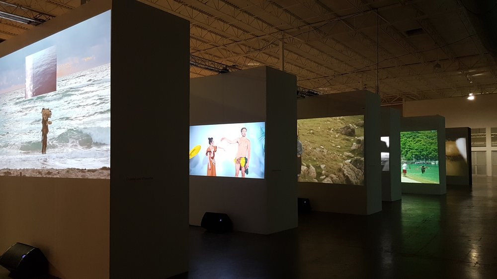 Exquisite Corpse: Moving Image in Latin American and Asian Art,  exhibition installation view at Mana Wynwood Museum. Photo courtesy of the writer.