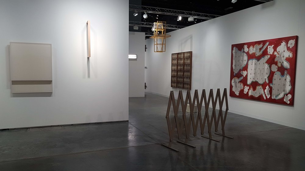West entrance of Galeria Lusia Strina booth at Art Basel Miami Beach, photo credit to the writer.