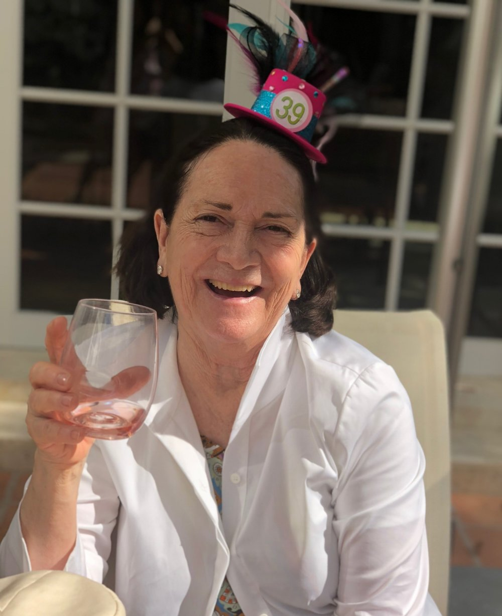 Leslie's mom Mara at her birthday party in Miami