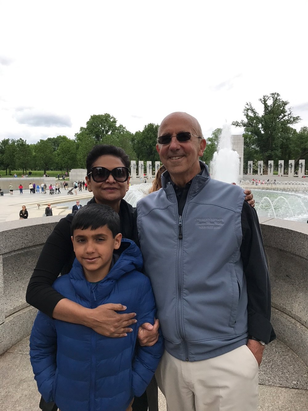 Leslie's Dad Lynn with his wife Anisya and their son Adam