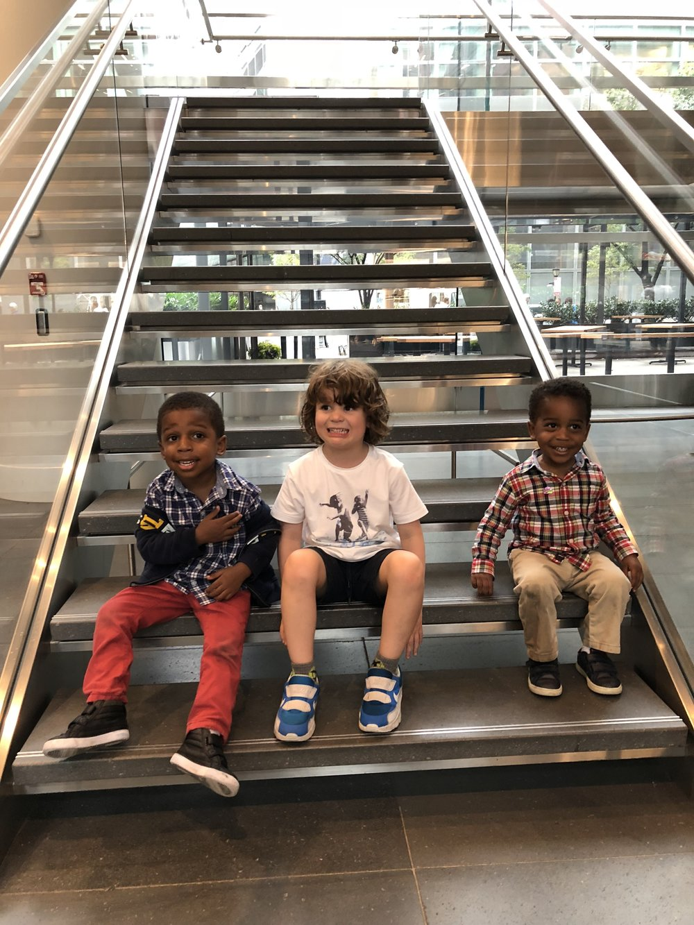 Silas hanging with his besties Aaron and Harrison in the mall on a rainy Sunday afternoon