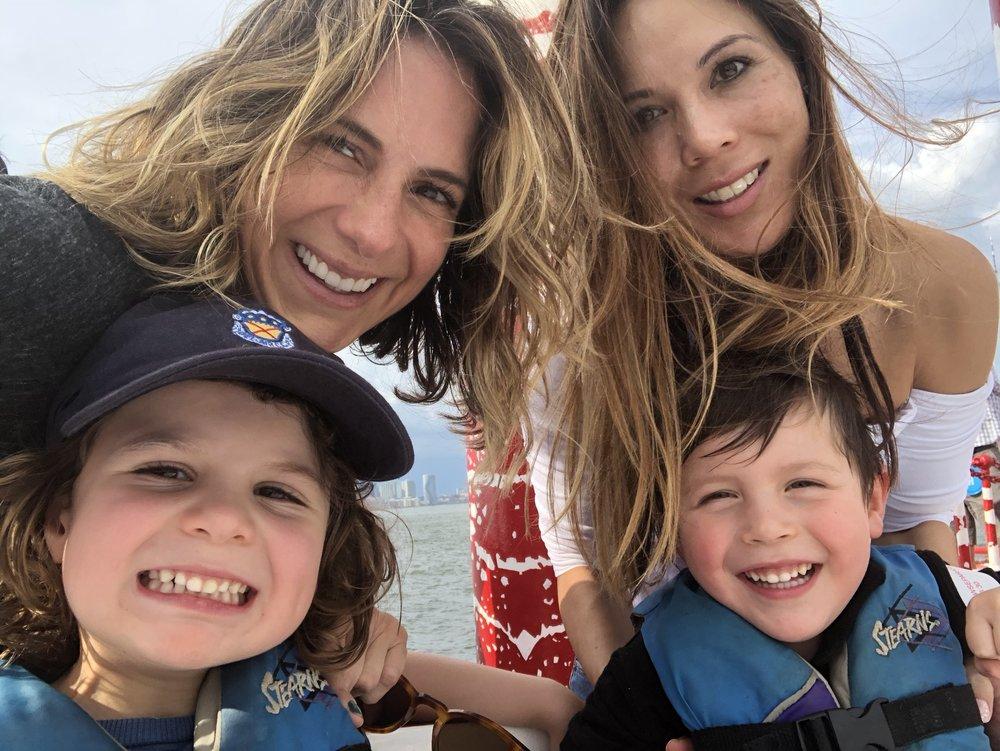 NY harbor boat ride with Maya and her son Joshie