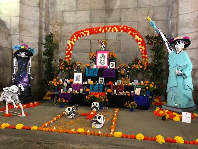 Dia de Los Muertos alter in our neighborhood