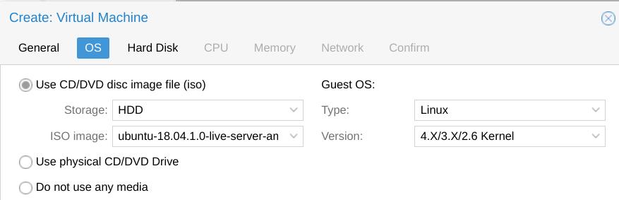 Creating an Ubuntu Server 18 04 LTS template/golden image on Proxmox