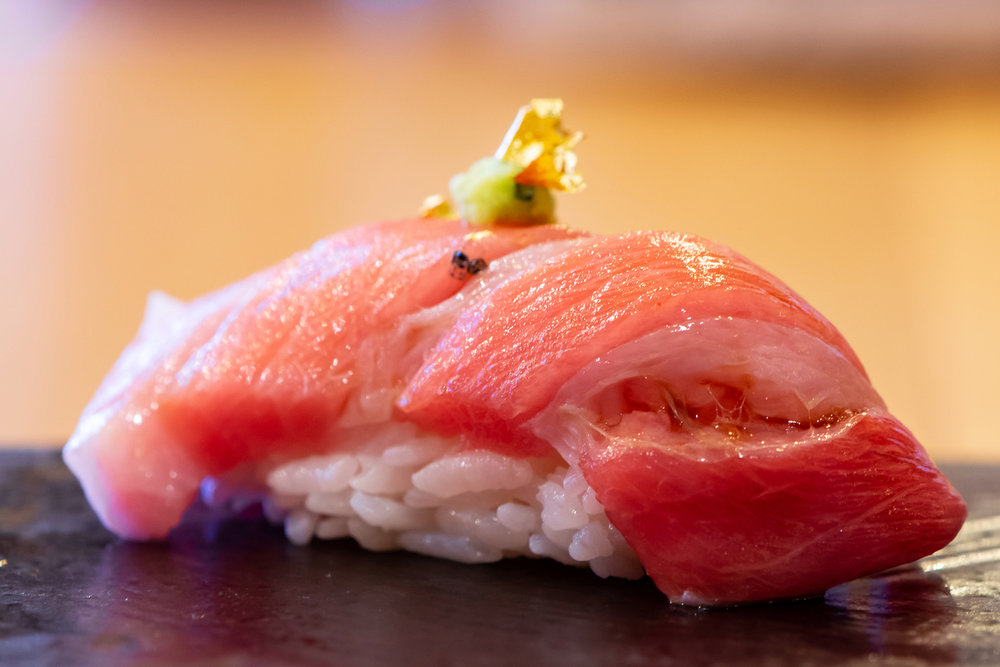 toro (fatty bluefin tuna) nigiri