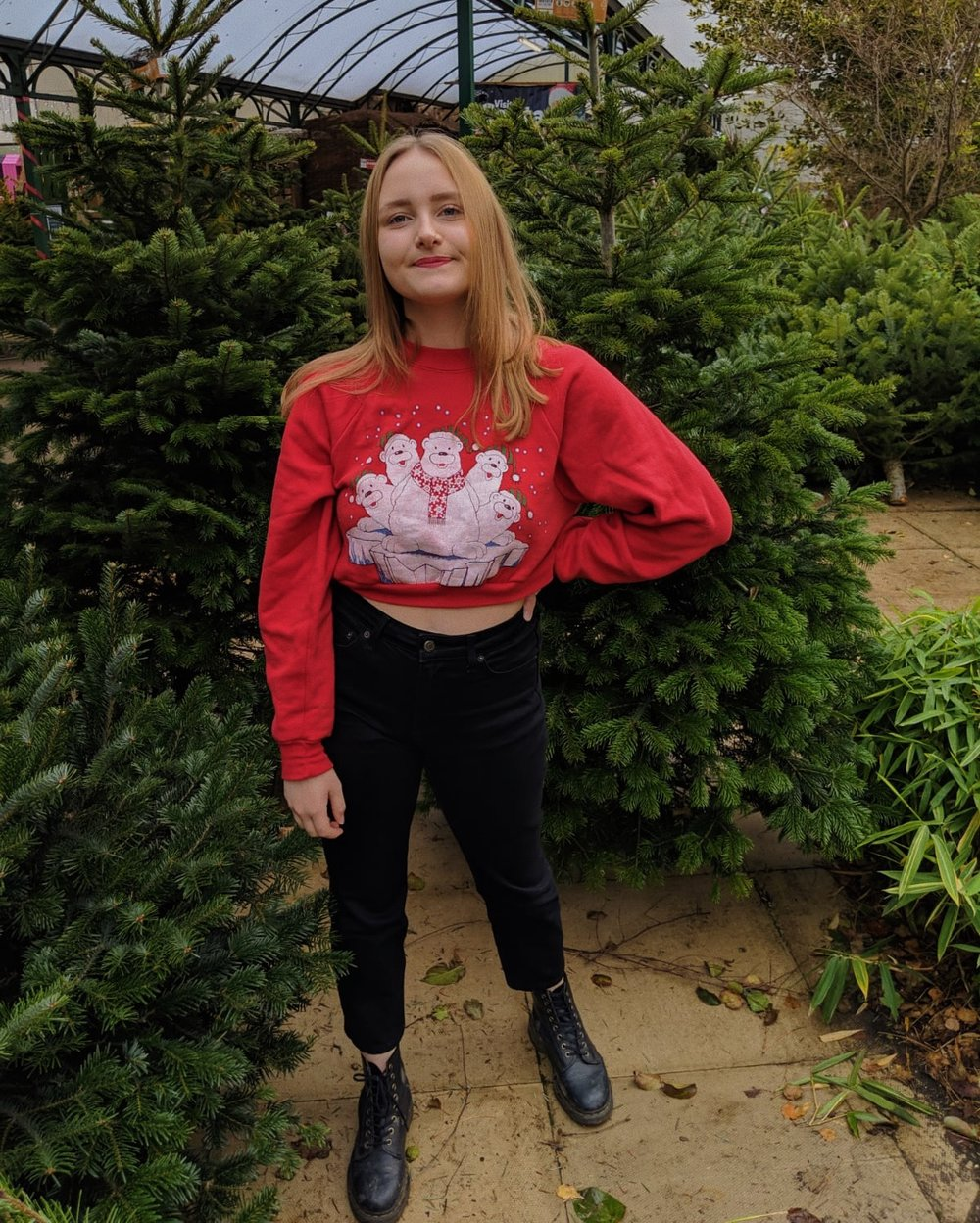 Jumper- COW Vintage  Jeans-  Topshop (Bought on Depop)   Shoes-  Vegan Dr Martens    *some links used are affiliate which means I receive a tiny amount of commission based on clicks