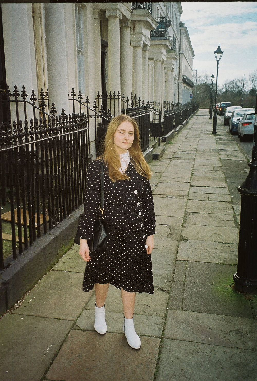 polka dot midi dress mango black and white