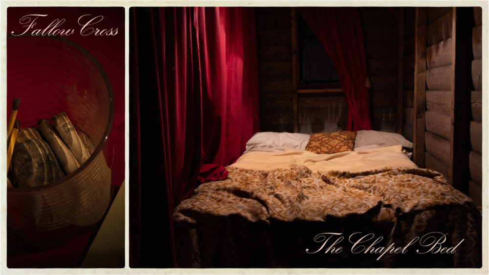 Reserved the chapel bed.