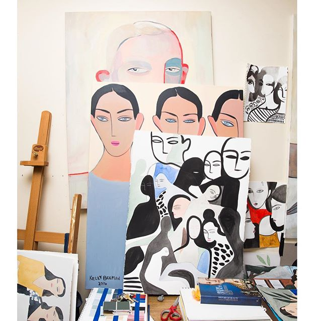 We want to move in to the studio of artist @kellymariebeeman so inspiring, art meets fashion. Pics from @coveteur magazine.