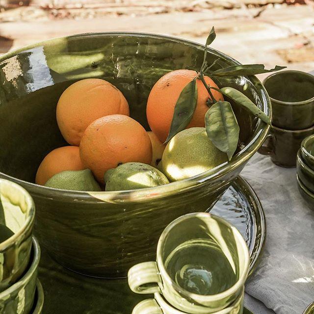 Fruit a clock 🍊🍋 #ceramics