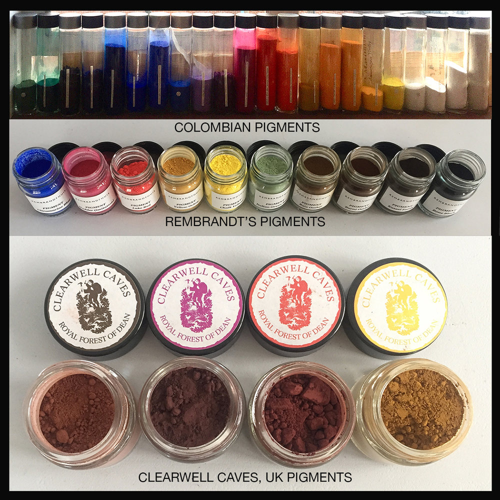 Purchased pigments