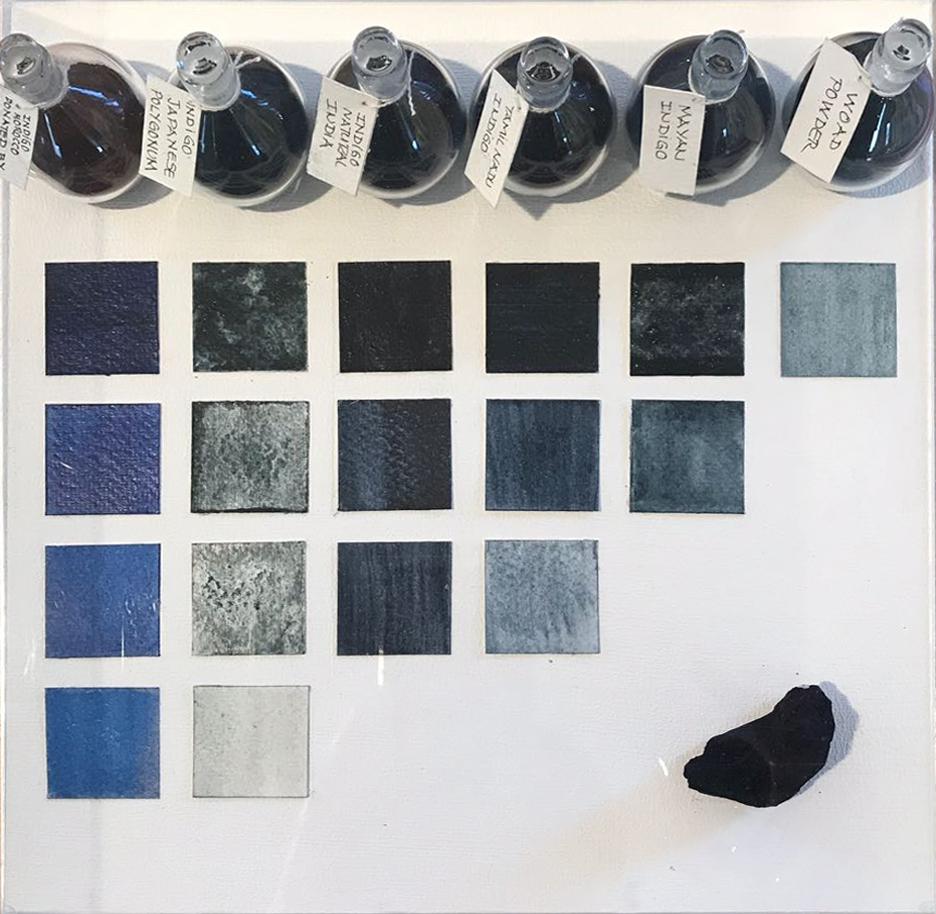 Indigo dyes collection