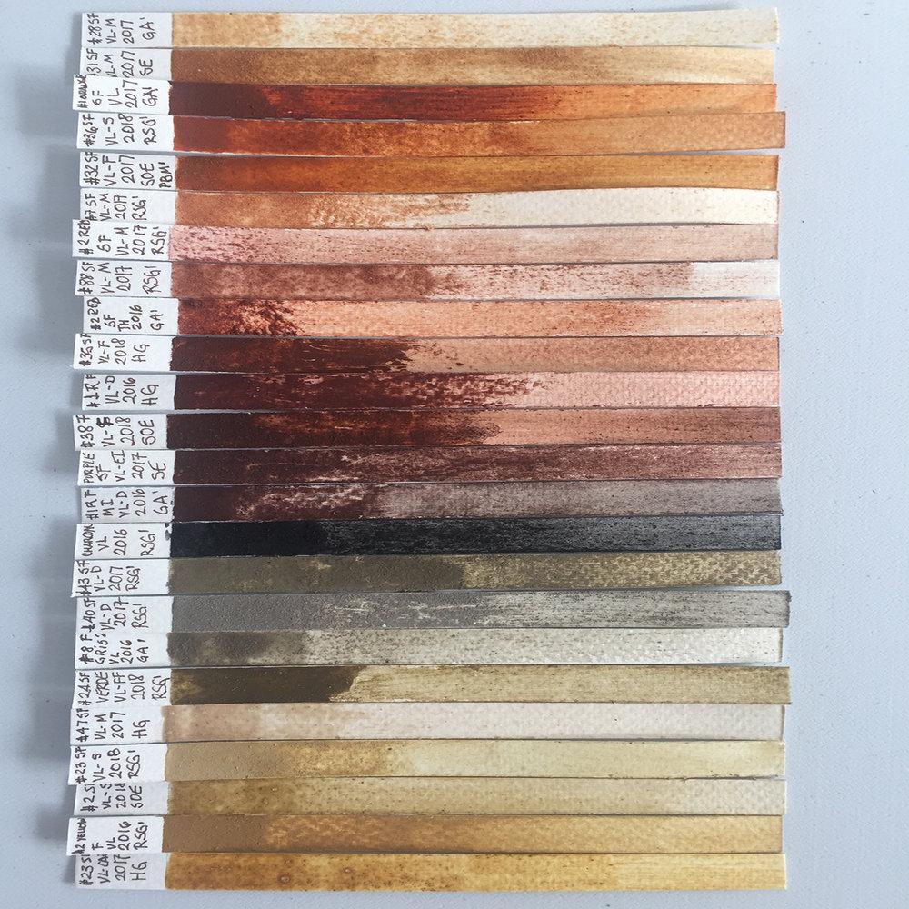 Earth pigment nuances 2018