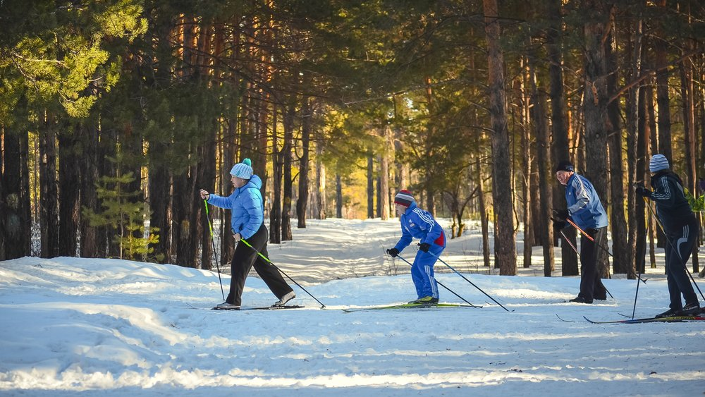 Cross-country skiing and snowshoeing is a great winter activity.