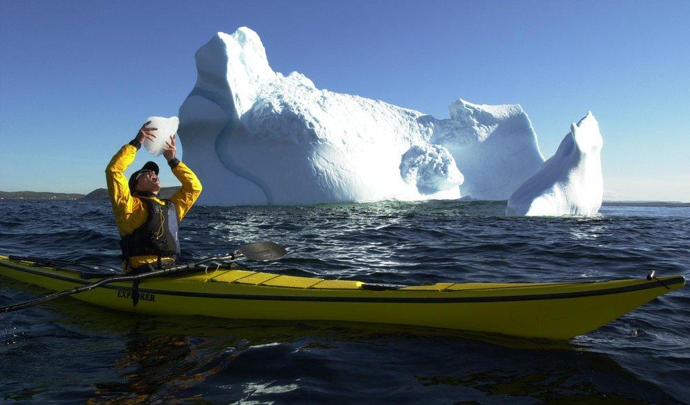 Kayaker drinking berg.JPG