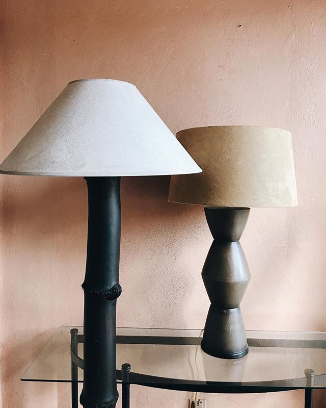 two lamps in the studio