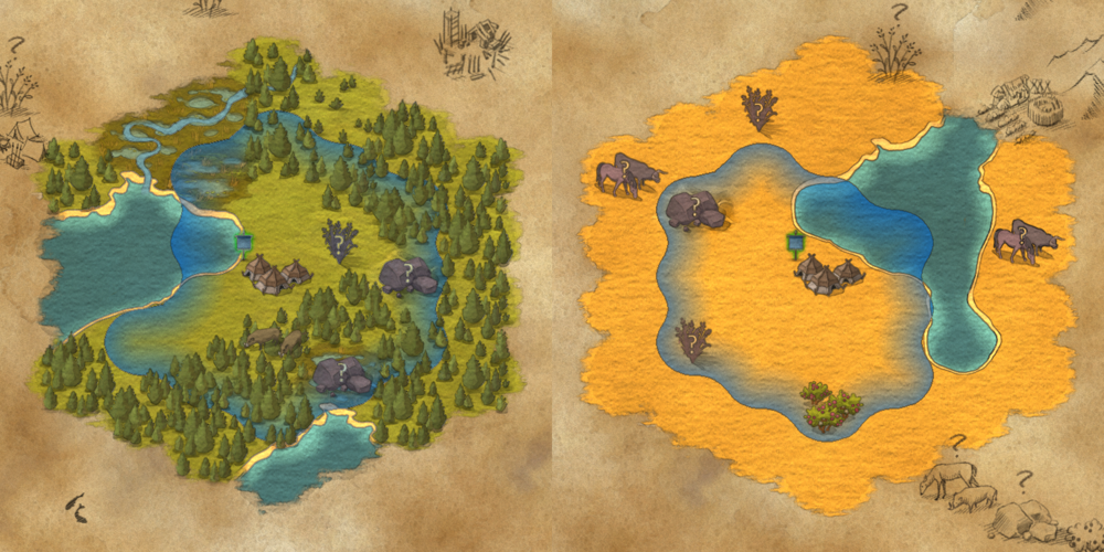 Your starting location can be very different from game to game.
